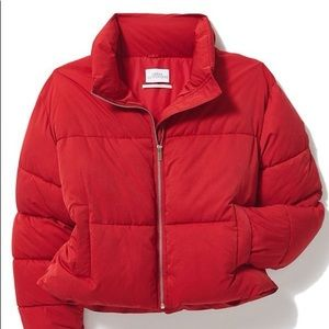 Red Urban Outfitters Hadley Puffer Coat